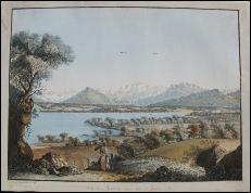 Hackert, C.L. Vue du Mont Blanc et une partie de Genève.