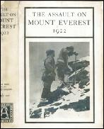 MOUNT EVEREST BOOKS The Assualt on Mount Everest 1922