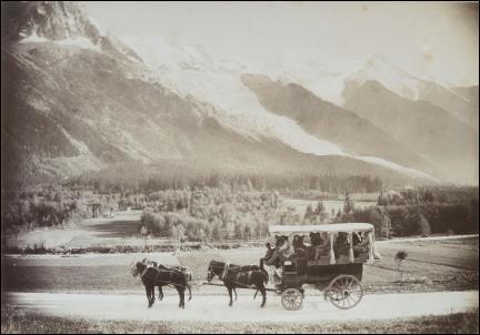 Genève une diligence pour Chamonix en Haute-Savoie
