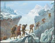 Saussure ascension du Mont Blanc gravure insicione image