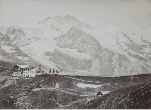 Charnaux La Jungfrau vue prise de la Petite Scheideck